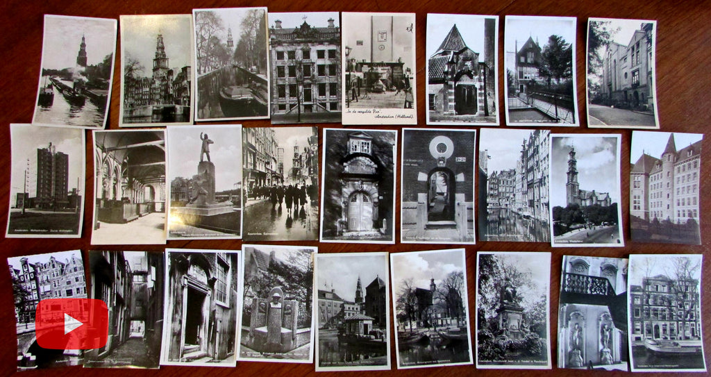Amsterdam Netherlands Holland 1920-50's lot x 26 real photo post cards