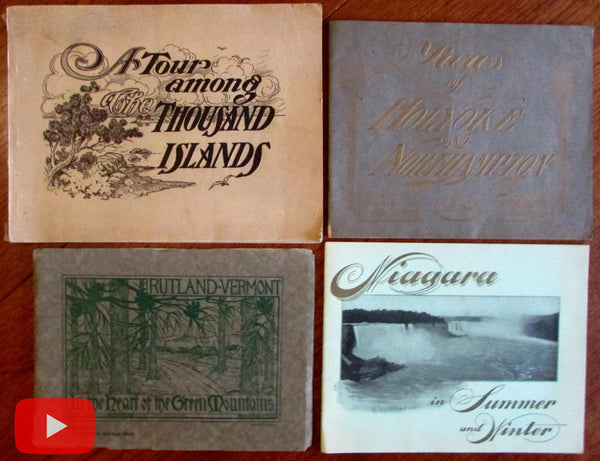 U.S. Tourism & travel 1905-1915 Rutland VT Holyoke MA Lot x 4 view books