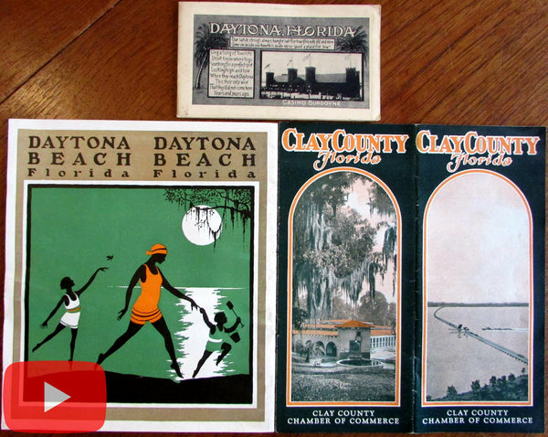 Florida Travel Tourist brochures c.1916-30 Art Deco graphics photos Daytona