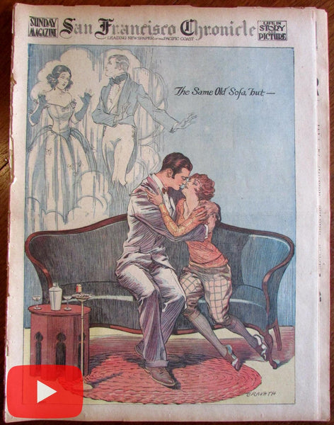 San Francisco Chronicle newspaper 1924 Nov. complete issue ads color rotogravure