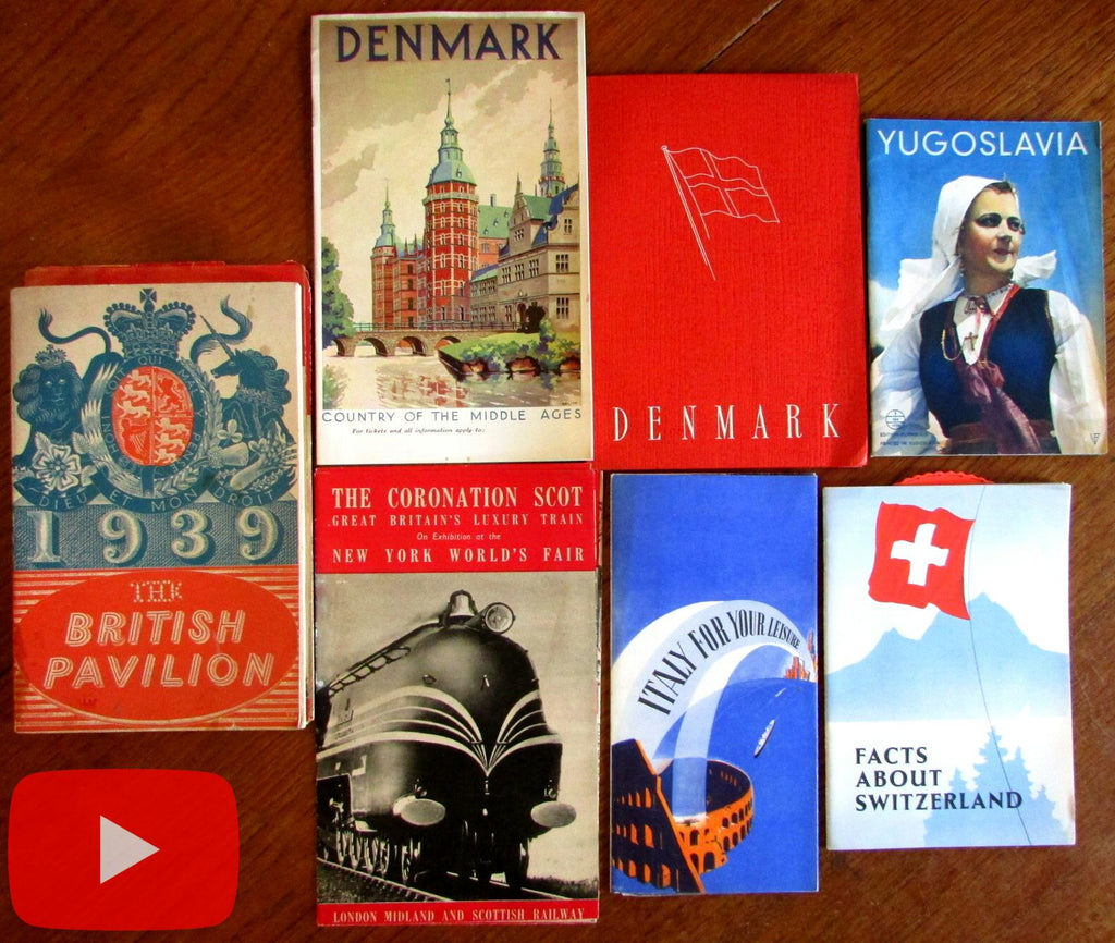 New York 1939-40 World's Fair collection 7 Travel brochures Art Deco style