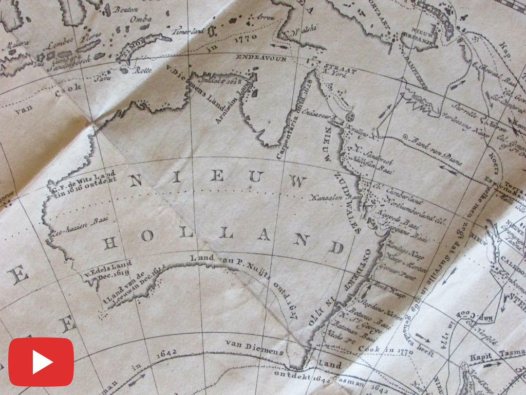 Southern Hemisphere Australia New Zealand 1799 Capt. Cook map