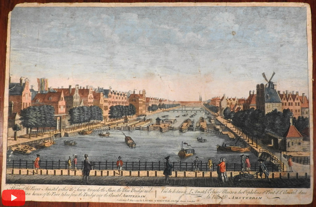 Amsterdam Holland Netherlands city view 1794 Prospect birds-eye print
