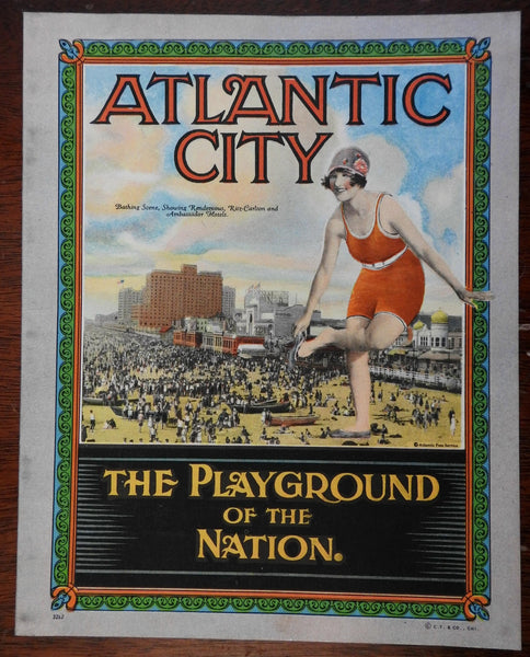 Atlantic City NJ Beach Playground of Nation c. 1920-30's souvenir photo album