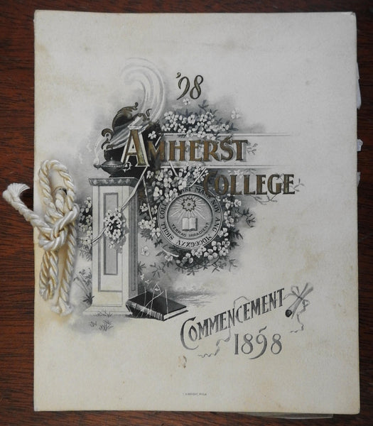 1898 Amherst College Commencement Itinerary Class Roll small pamphlet