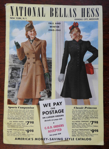 National Bellas Hess Fall & Winter Catalog 1940-41 Family Fashion clothes style