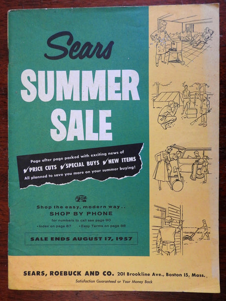Sears Roebuck 1957 Summer Catalogue Mail Order Shopping Americana illustrated