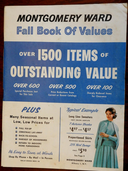 Montgomery Ward 1961 Fall Catalogue Clothing House Kitchen Home Goods all types