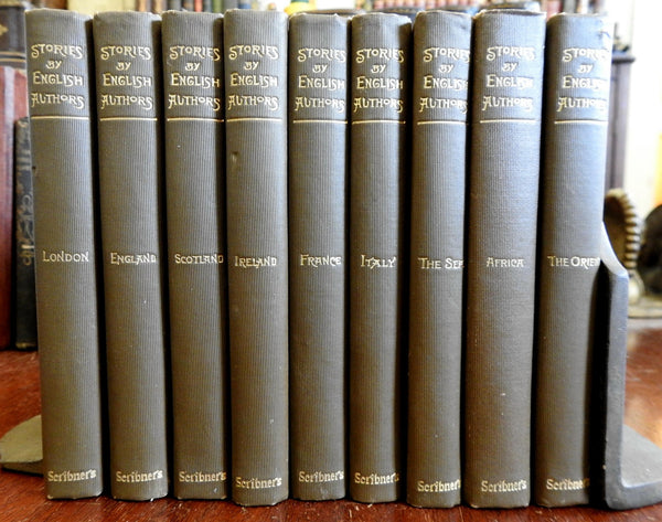 Stories by English Authors 1896-1900 lovely set 9 v Doyle Haggard Scott Kipling