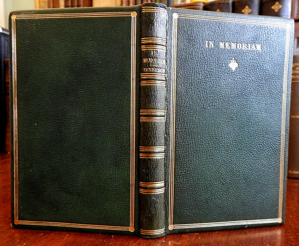 In Memoriam 1867 Alfred Lord Tennyson leather book poetry