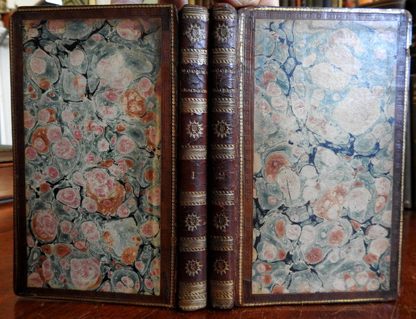 Odes of Anacreon 1820 Thomas Moore 2 vol. leather set beautiful bindings
