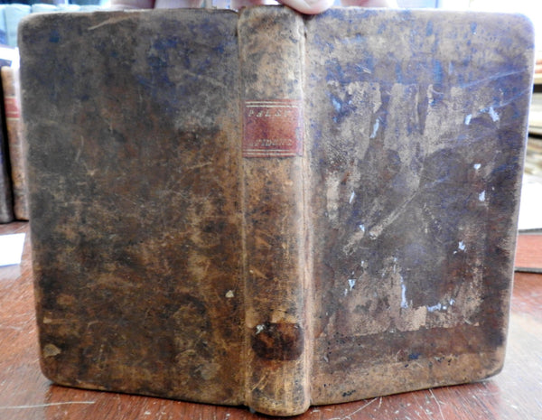 View of Evidence of Christianity 1795 Boston William Paley rare old leather book