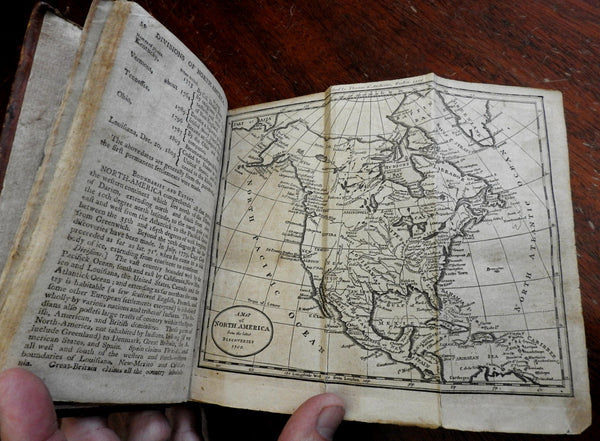 Geography Made Easy Jedidiah Morse's 1807 leather book with U.S. map