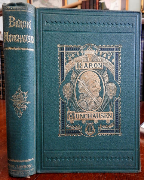 Travels and Adventures of Baron Munchausen 1868 Cruikshank illustrated book