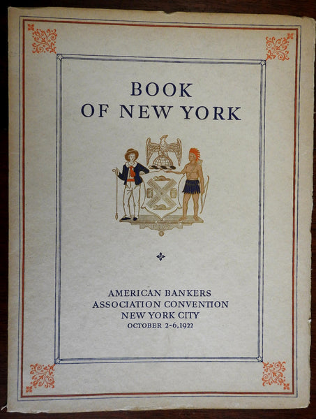 Book of New York 1922 American Bankers Association Annual Convention illustrated