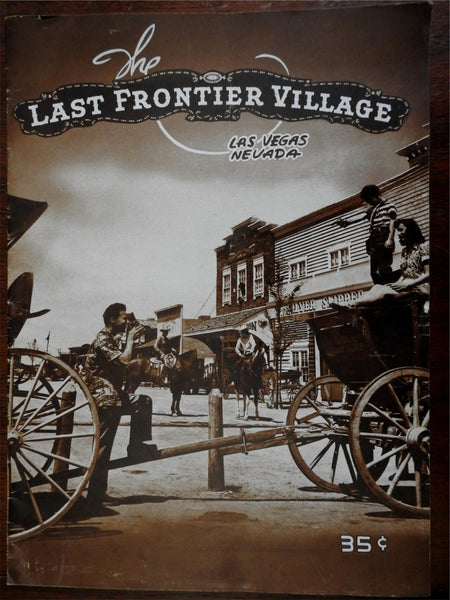 The Last Frontier Village Las Vegas Nevada c. 1950 promotional magazine Casino