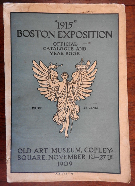 """1915"" Boston Exposition Official Catalogue 1909 w/ huge city plan map"