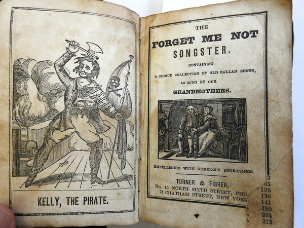 Forget Me Not Songster 1840's nautical songs sea ballads rare illustrated book