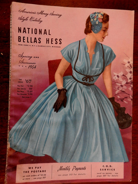 Bella Hass 1954 Consumer mail order catalogue wonderful fashion home goods men