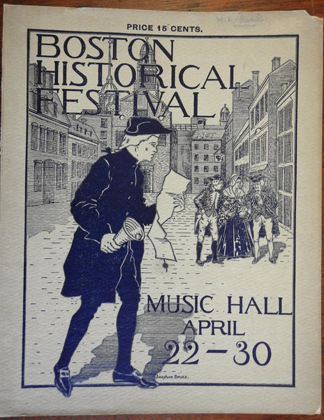 Boston Mass. Historical Festival Souvenir Program 1897 illustrated book adverts