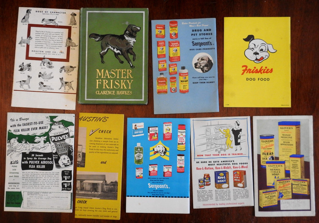 Dog Ownership Lot of Nine 20th Century American Pamphlets Training Advertising