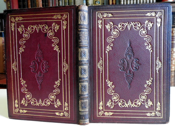 Harmony of the Gospels maps 1850 Christian Religious decorative leather binding
