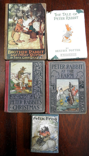 Children's Books Peter Rabbit Felix the Frog Illustrated Lot of 5