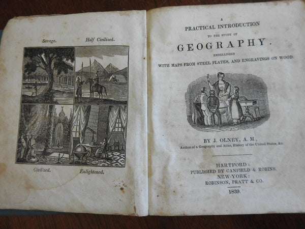 Practical Introduction to the Study of Geography 1839 J. Olney Americana book