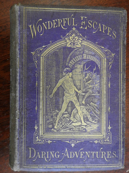 Wonderful Escapes & Daring Adventures Great Hunts 1873 illustrated book for boys