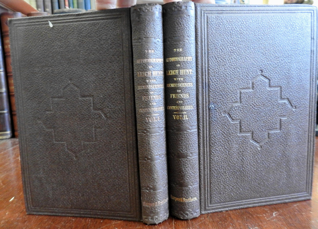 Autobiography of Leigh Hunt 1860 English critic essayist