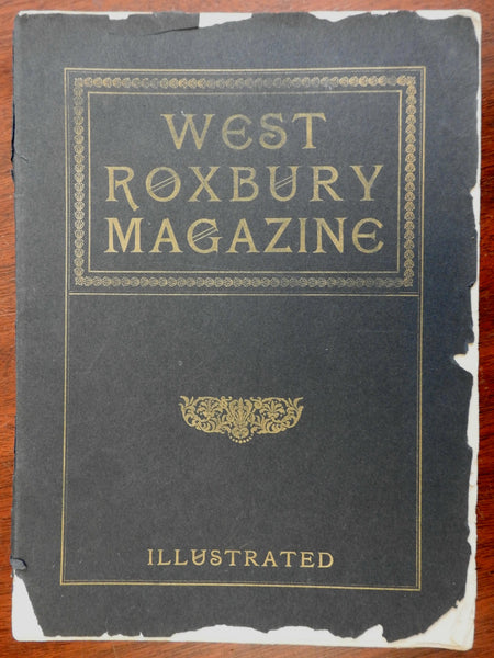 West Roxbury Magazine 1900 Americana Massachusetts illustrated advertisements
