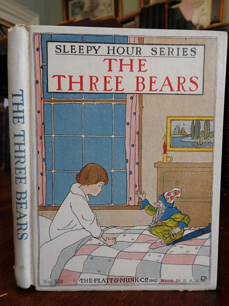 The Three Bears 1906 color illustrated children's book rare original dust jacket