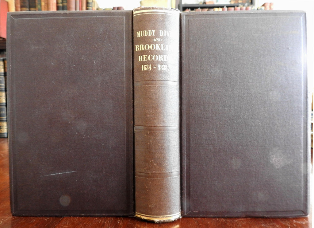 Muddy River Brookline Massachusetts Records 1634-1838 monumental old book