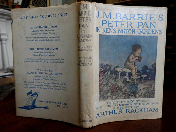 Peter Pan in Kensington Gardens 1954 Arthur Rackham illustrated children's book
