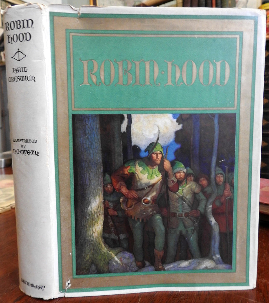 Robin Hood 1917 N.C. Wyeth illustrated children's book in original DJ