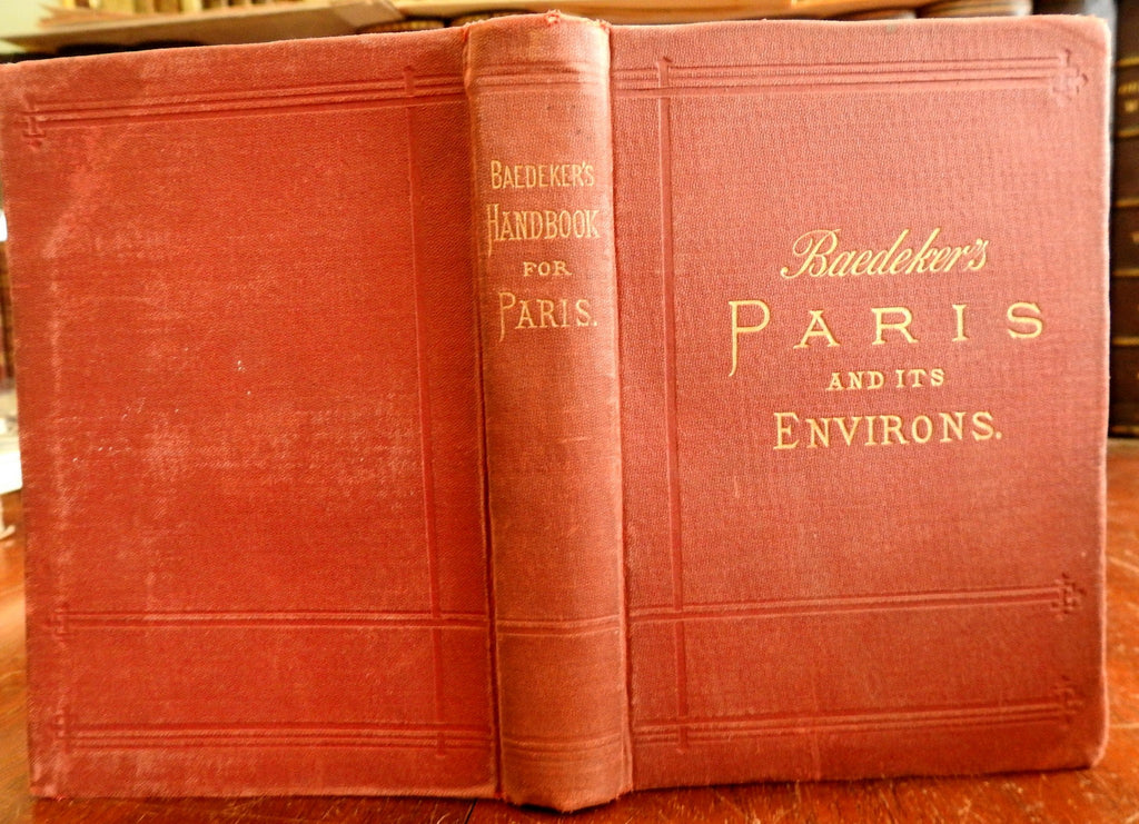 Paris and Environs 1891 Karl Baedeker's Travel Guide Book w/ Plans & Maps