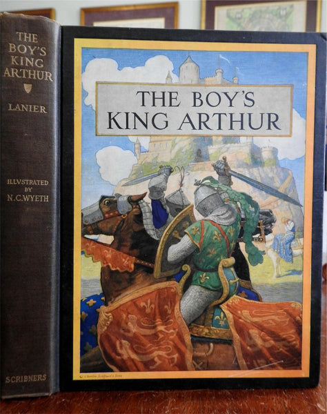 Boy's King Arthur 1919 N.C. Wyeth Illustrated color plates Scribner's Classic bk