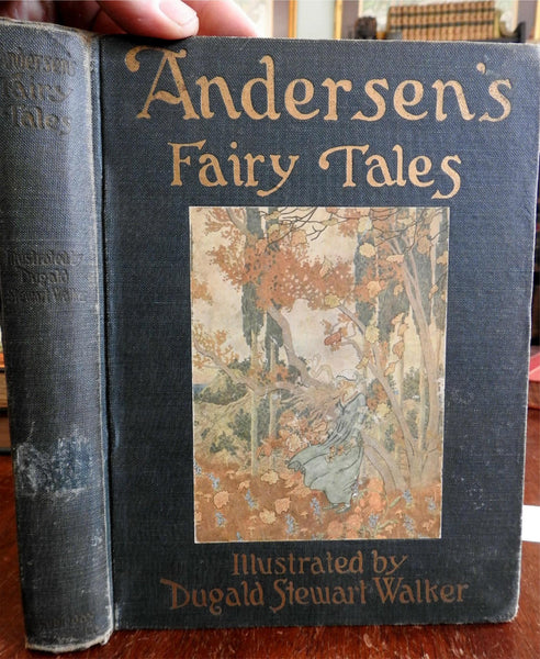 Fairy Tales of Hans Christian Andersen 1914 Dugald Walker illustrated book