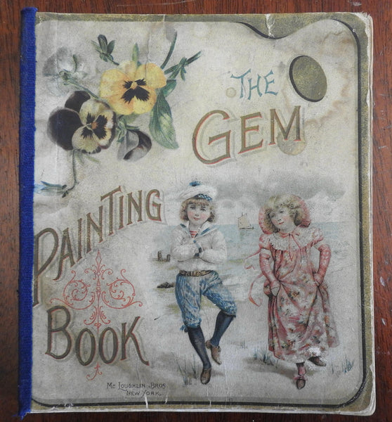 The Gem Painting Book 1880 McLoughlin Bros Chromolithographed Children's book