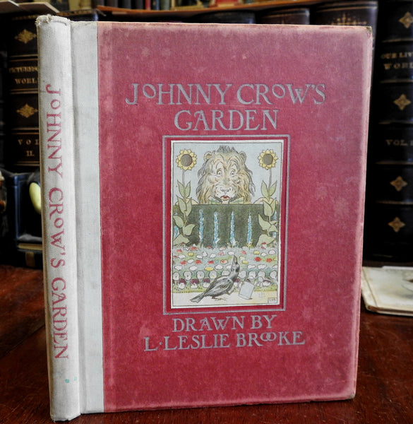 Johnny Crow's Garden c. 1910 L. Leslie Brooke Art Nouveau illustrations old book