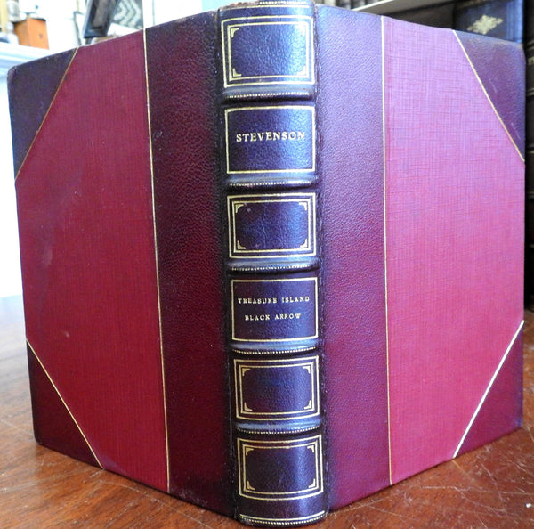 Treasure Island The Black Arrow 1920 Robert Louis Stevenson lovely leather book