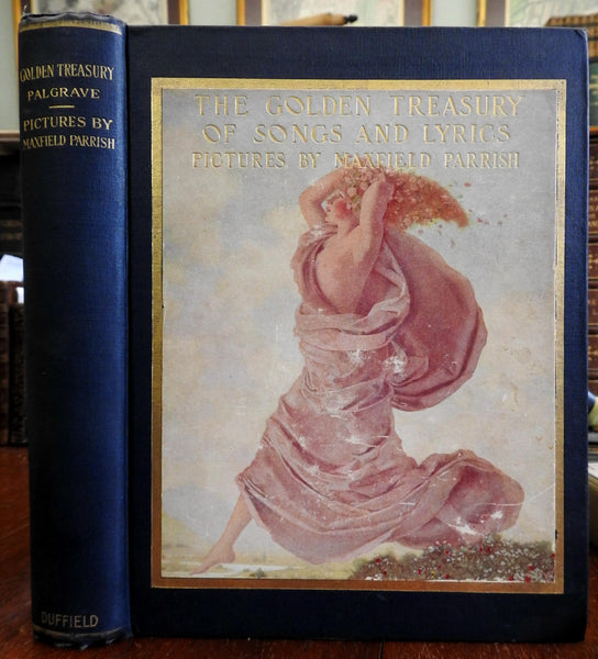 Golden Treasury of Songs & Lyrics 1911 Maxfield Parrish illustrated poetry book