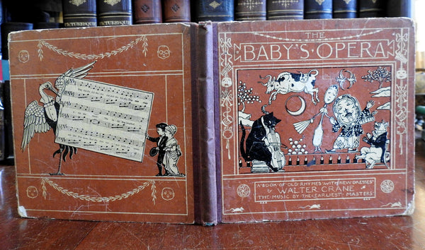Baby's Opera 1910 Walter Crane Edmund Evans illustrated nursery rhymes book