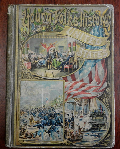 Young Folks History of the United States 1890 Annie Cole Cady children's book