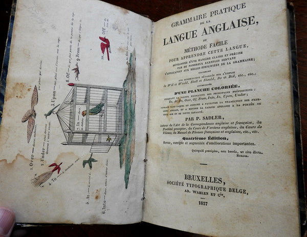 Grammaire Pratique de la Langue Anglaise 1837 French-English grammar old book