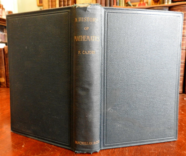 A History of Mathematics 1894 Florian Cajori old book