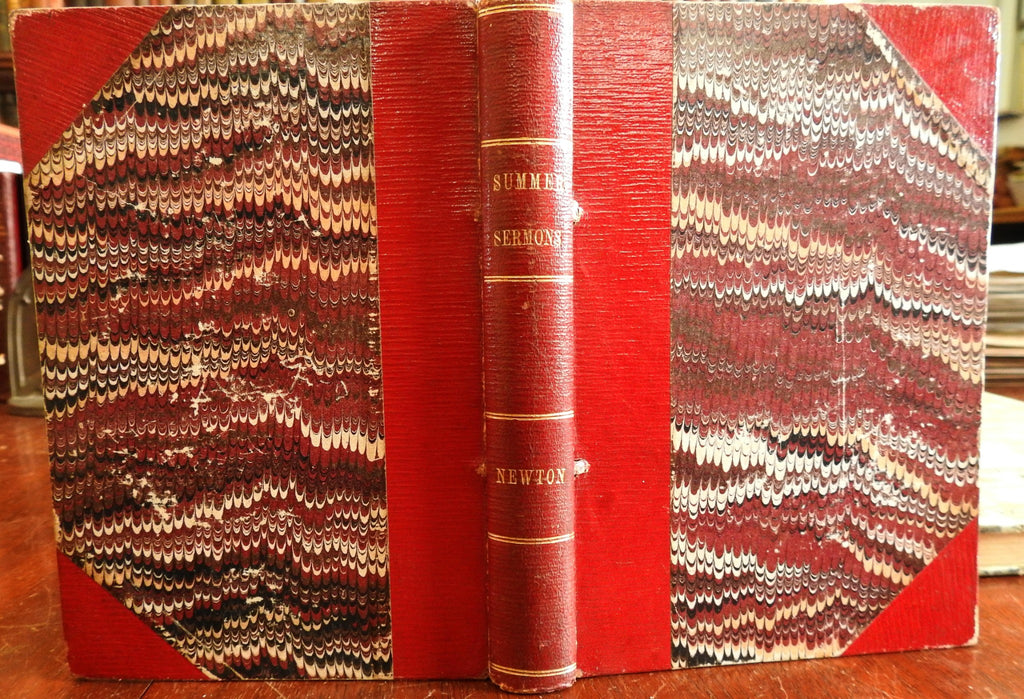 Summer sermons c.1890's Northampton Mass leather rare book