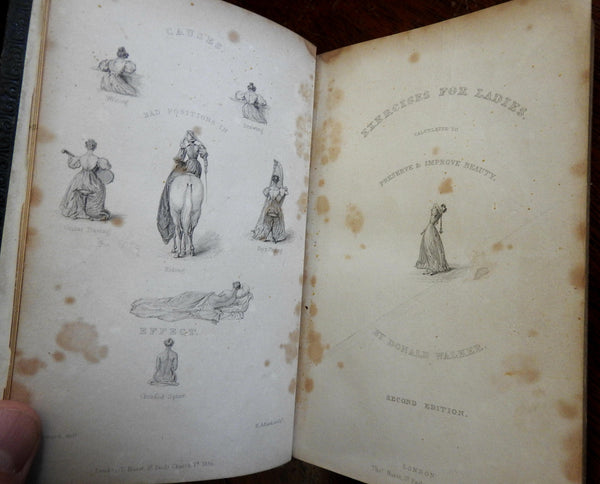 Exercises for Ladies to improve Beauty 1837 Donald Walker Women's Health Manual