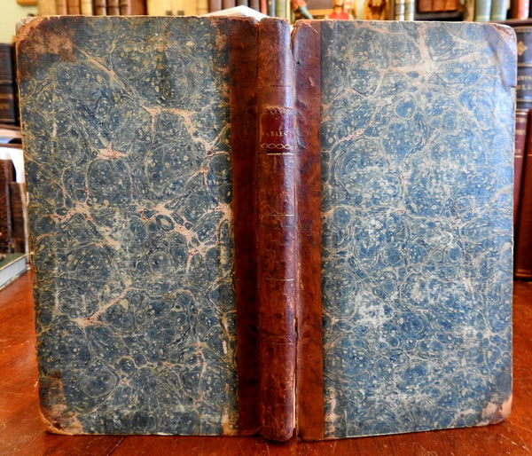 German Fables & Tales 1795 Fabeln & Erzahlungen E.F. Gellerts leather book