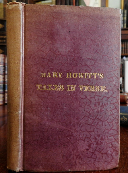 Tales in Verse 1839 Mary Howitt 1st Amer. Illustrated Children's Book